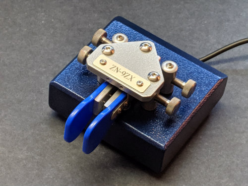 """Picture of ZN-9ZX (stock, blue/silver, 5/8"""" OTO)"""